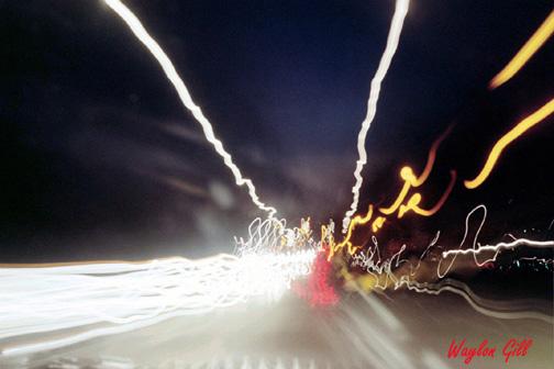 "фото ""Winding Road at Night"" метки: абстракция, пейзаж, ночь"