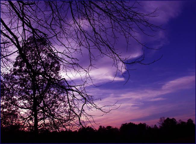 """фото """"Scratching the Blues"""" метки: пейзаж, закат, ночь"""