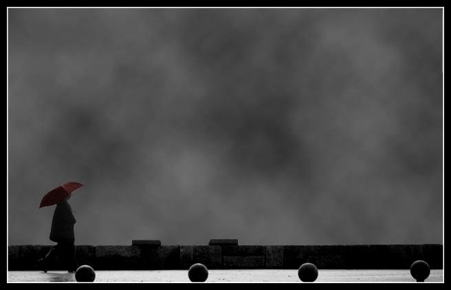 "фото ""The umbrella man"" метки: фотомонтаж, жанр,"
