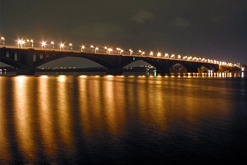 "фото ""Мост над Енисеем"" метки: пейзаж,"