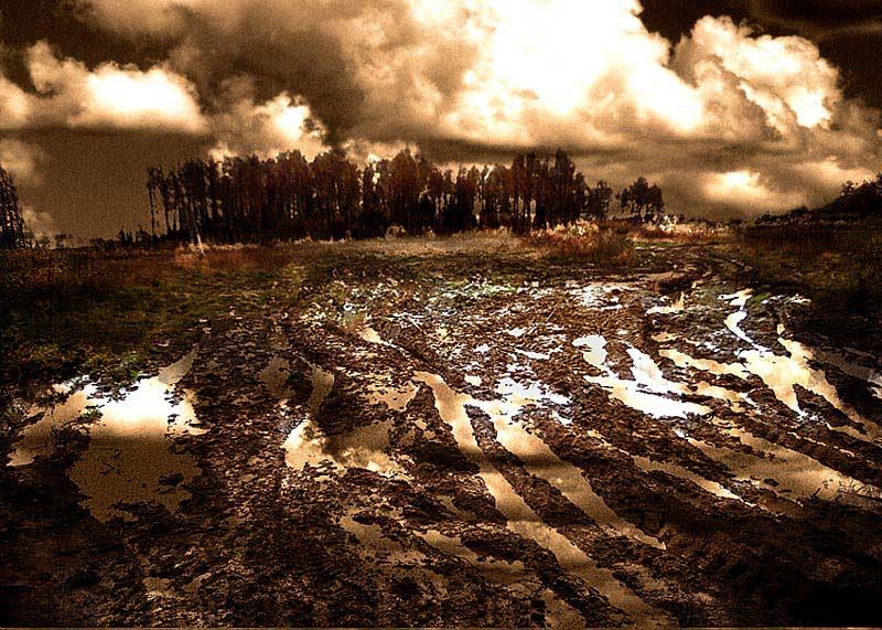 "фото ""Дорога России"" метки: абстракция, пейзаж, облака"