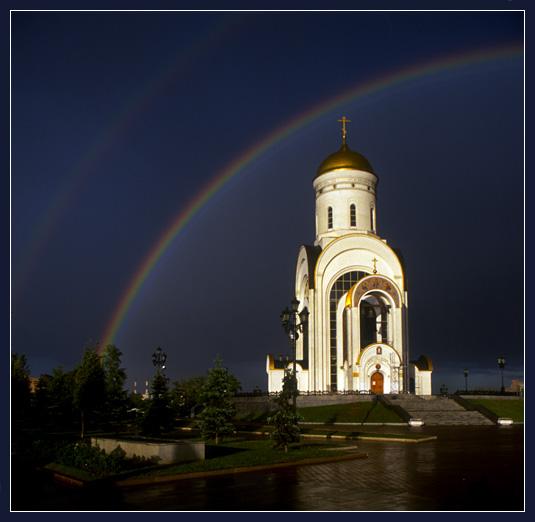 "фото ""Гроза / Парк Победы"" метки: архитектура, пейзаж,"