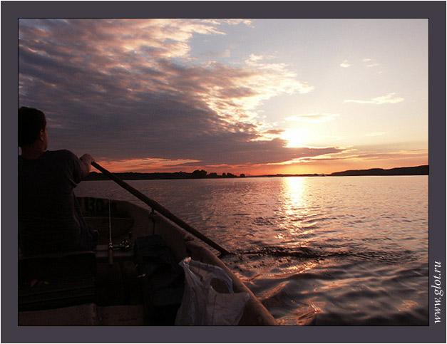 """фото """"Волга матушка"""" метки: пейзаж, вода, закат"""