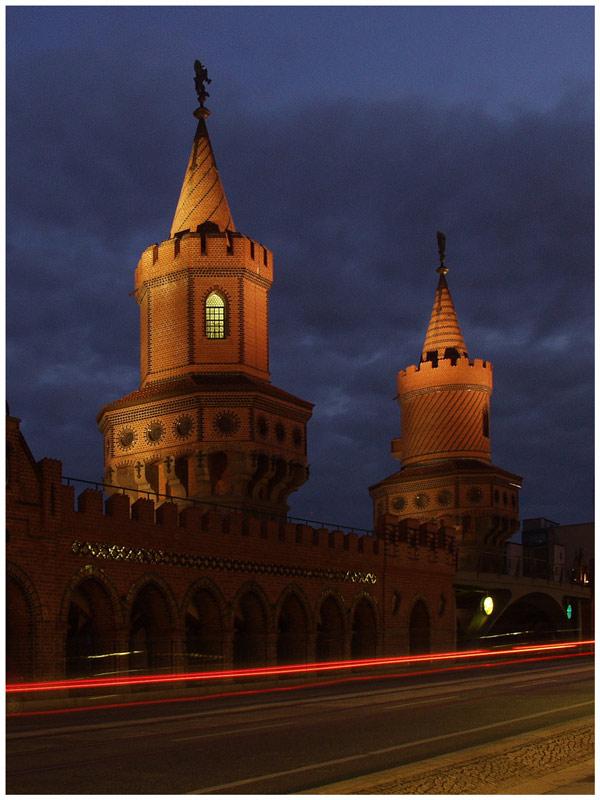 "фото ""Oberbaum-bridge in berlin"" метки: архитектура, пейзаж,"