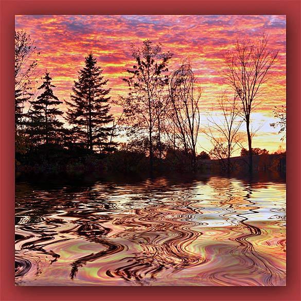 """фото """"В осеннем настроении"""" метки: пейзаж, закат, осень"""