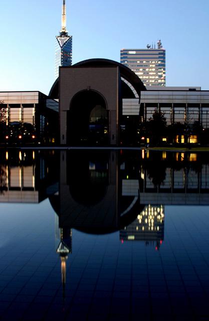 "фото ""Fukuoka Museum"" метки: архитектура, путешествия, пейзаж, Азия"