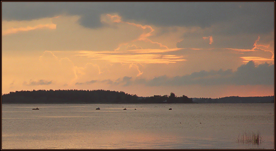 "фото ""Небесная графика"" метки: пейзаж, вода, закат"