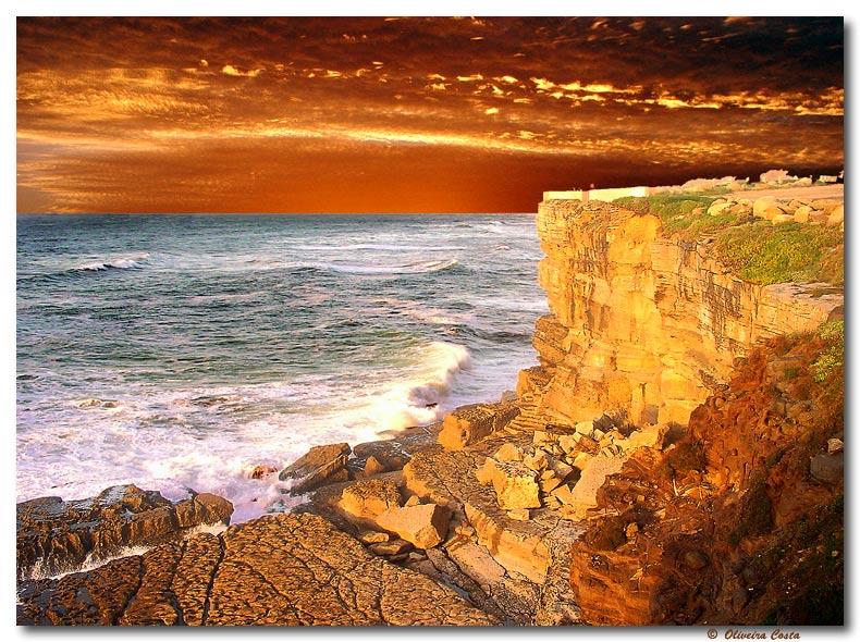 """фото """"Golden Cliff"""" метки: пейзаж, путешествия, Европа, закат"""