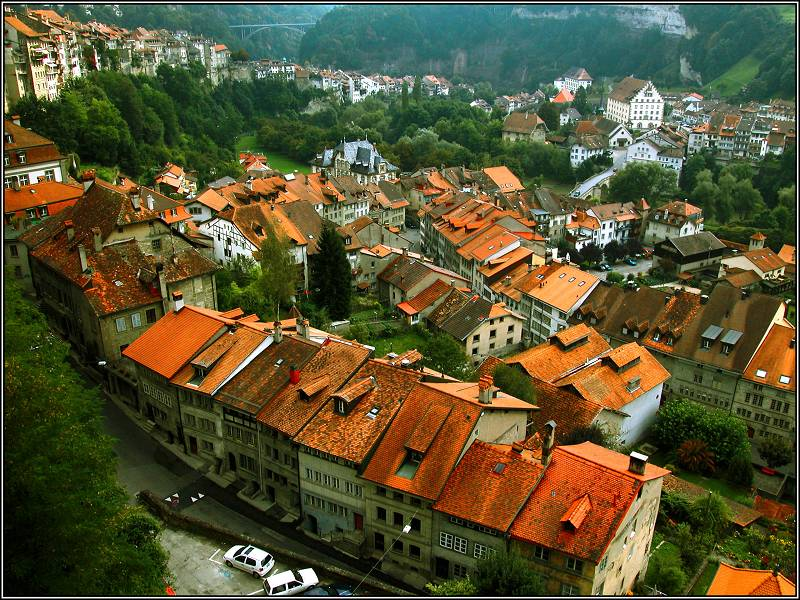 """фото """"Красные крыши Швейцарии"""" метки: путешествия, Европа"""