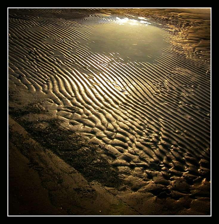 "фото ""The sea-sand and slanting beam of light"" метки: пейзаж, вода, закат"