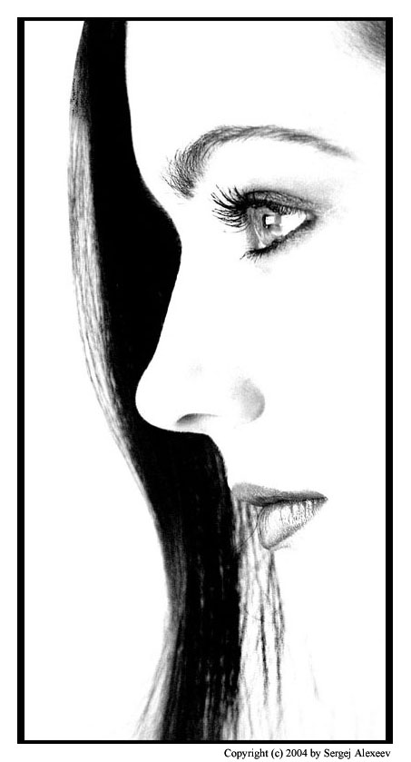 "photo ""profile"" tags: portrait, black&white, woman"