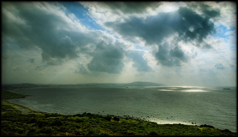 "photo ""Lowering sky Strait of Gibraltar"" tags: landscape, clouds, water"