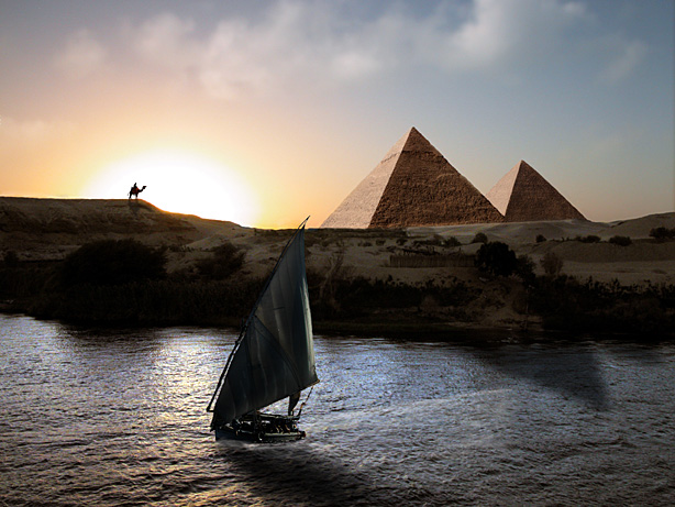 """фото """"Giza"""" метки: путешествия, пейзаж, Африка, закат"""