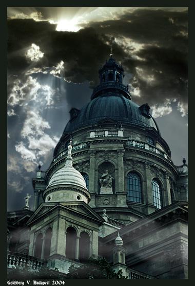 """photo """"Budapest Bazilique building"""" tags: travel, architecture, landscape, Europe"""