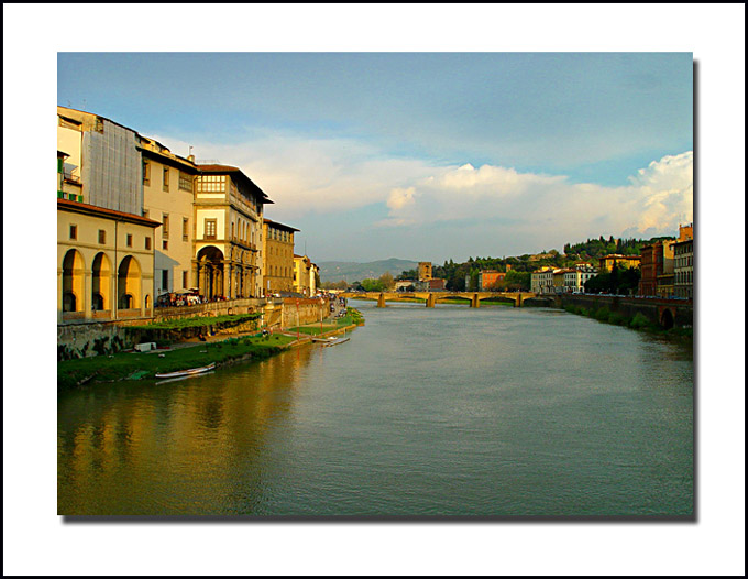 "photo ""The Arno river"" tags: architecture, travel, landscape, Europe"