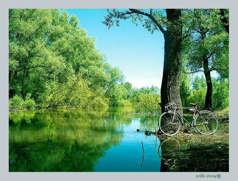 "photo ""From life of a bicycle"" tags: landscape, water"