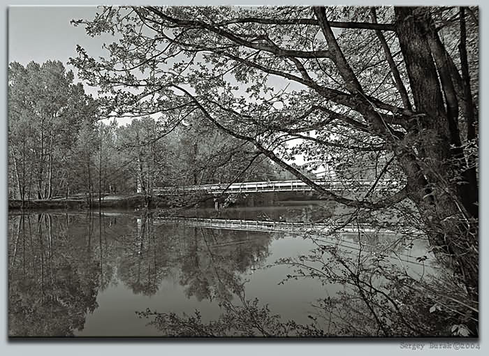 "photo ""The river Satis – in the Summer"" tags: landscape, black&white,"