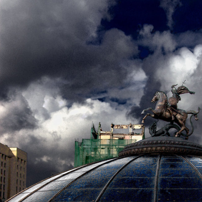 "photo ""Of Moscow I Dream. The Maneznaya Square (just afte"" tags: architecture, landscape, clouds"