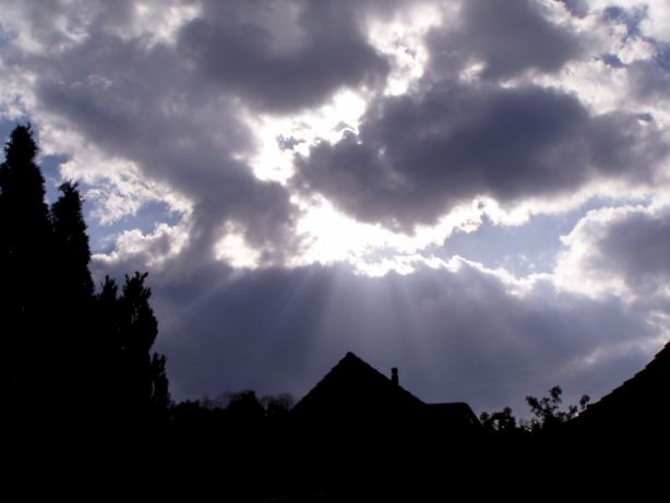"photo ""Sun behind Clouds 1"" tags: landscape, nature, clouds"