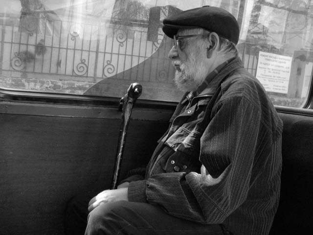 "photo ""Old age"" tags: black&white, portrait, man"