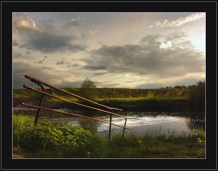 "фото ""КЛЁВое местечко."" метки: пейзаж, вода, облака"