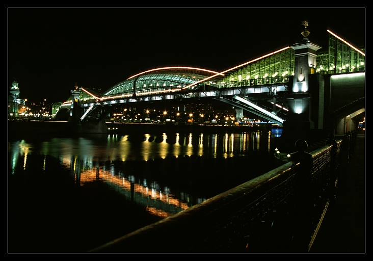 "photo ""Bridge at Night"" tags: landscape, architecture, night"