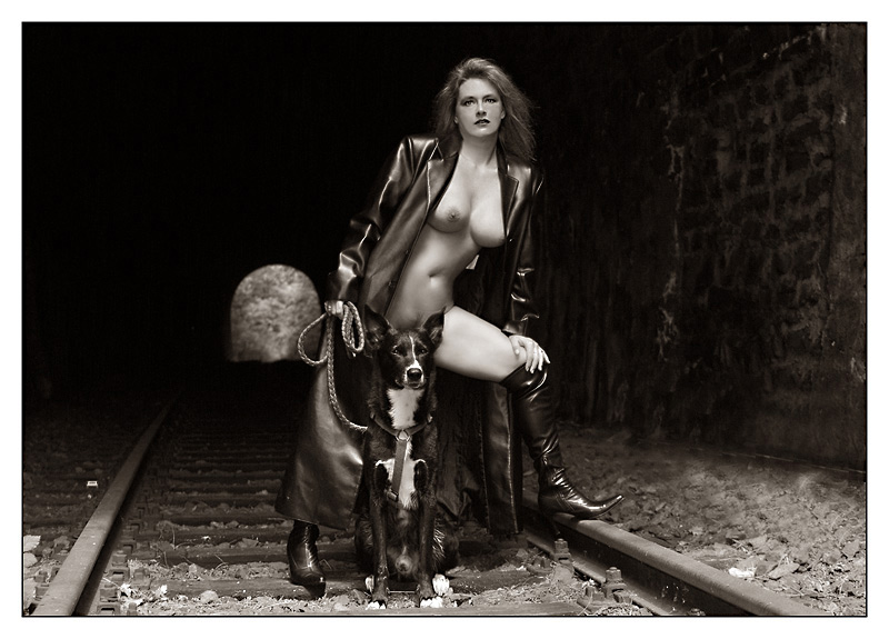 "photo ""...hours later ... still no train ..."" tags: nude,"