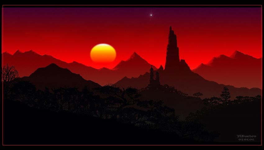 """фото """"Мексика в красном"""" метки: фотомонтаж, пейзаж, горы"""