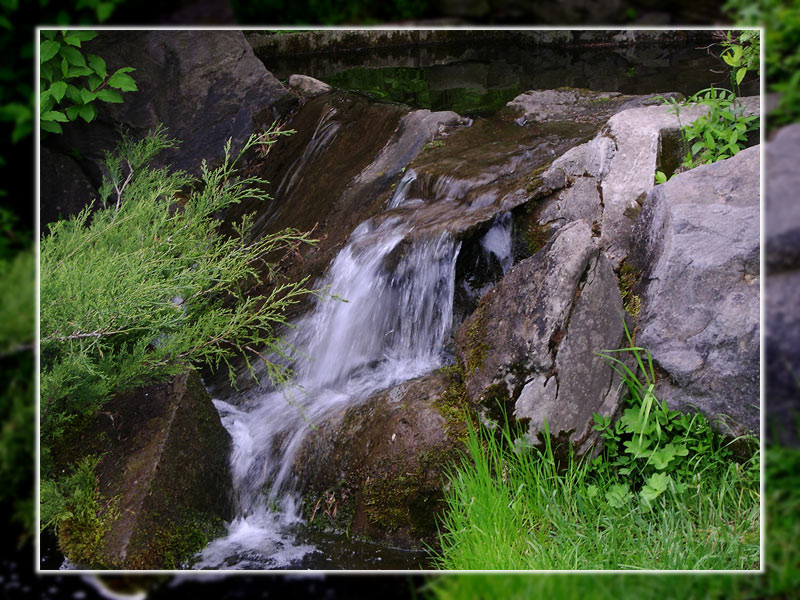 "photo ""Small Waterfall"" tags: nature,"