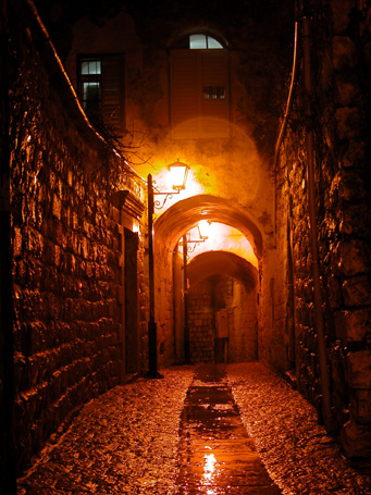 """photo """"ZEFAT. Mysticism of light"""" tags: architecture, montage, landscape,"""