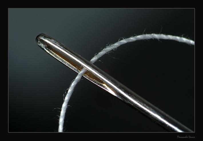 "фото ""Etude with needle"" метки: натюрморт, макро и крупный план,"