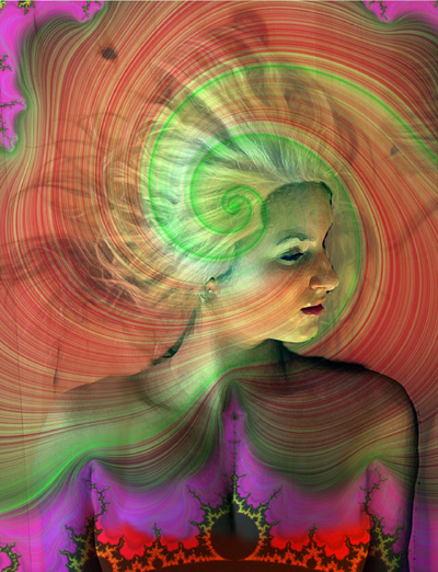 "photo ""Whirlwind"" tags: montage, portrait, woman"