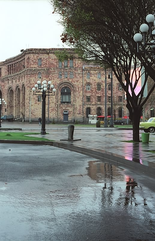 "photo ""The city woken by a rain..."" tags: architecture, landscape, spring"