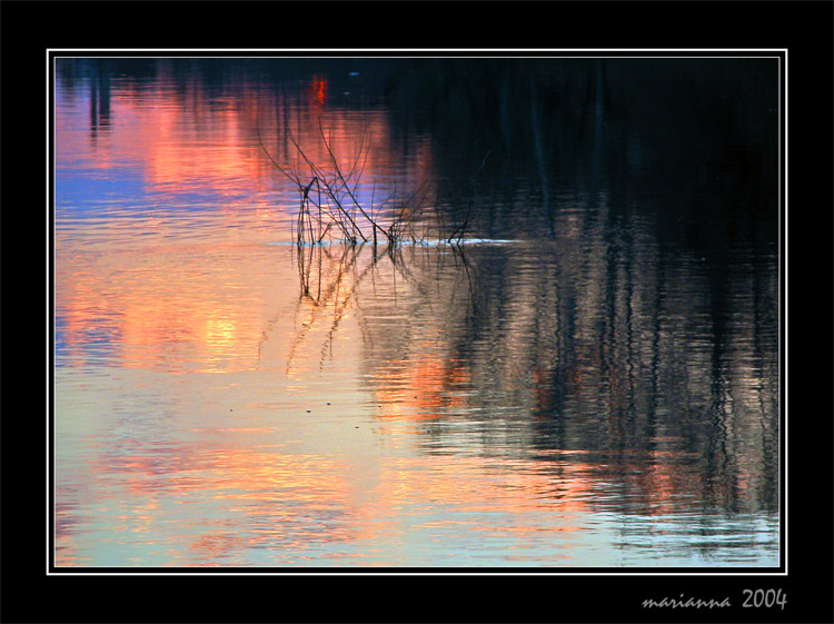 "photo ""Evening paints of water"" tags: landscape, sunset, water"