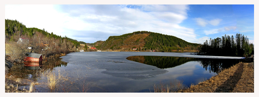 "photo ""Spring at Lake Jonsvatnet"" tags: landscape, spring"