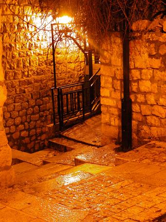 "photo ""ZEFAT. Mysticism of light"" tags: landscape, montage, night"