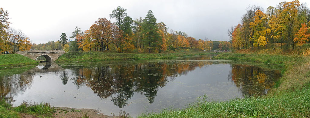 "photo ""Gatchina. Lake in park"" tags: landscape, autumn"