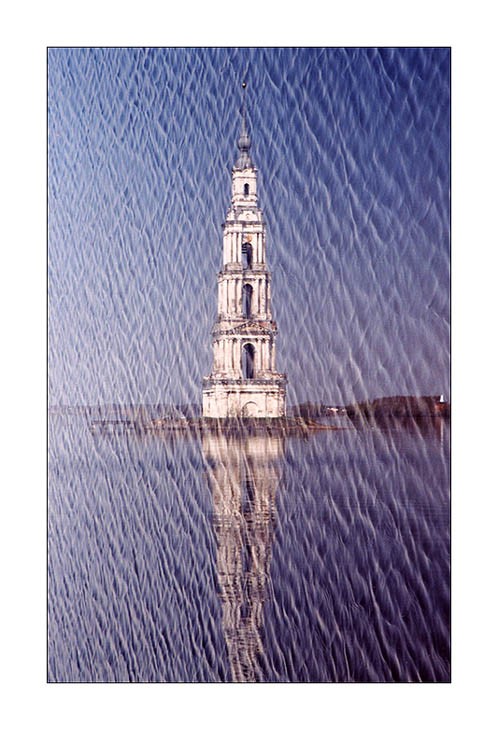 "photo ""The flooded belltower"" tags: architecture, landscape, water"