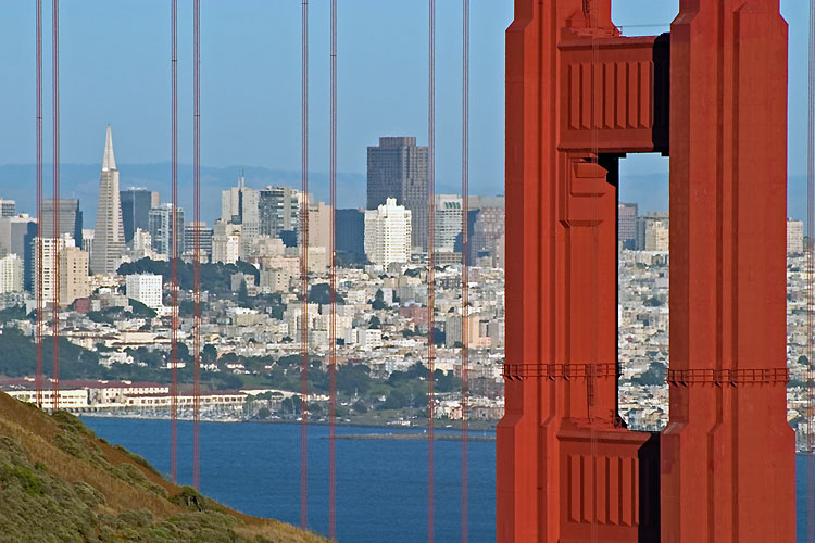 "photo ""Golden Gate Bridge Zoom"" tags: travel, architecture, landscape, North America"