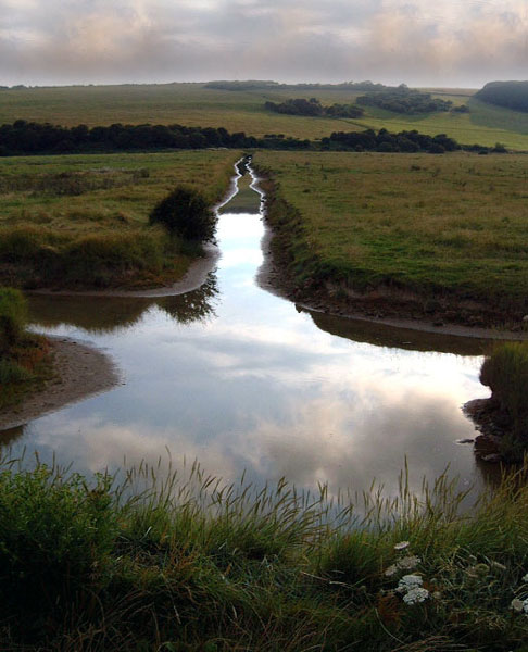 "photo ""A Stream in Sussex"" tags: landscape, water"