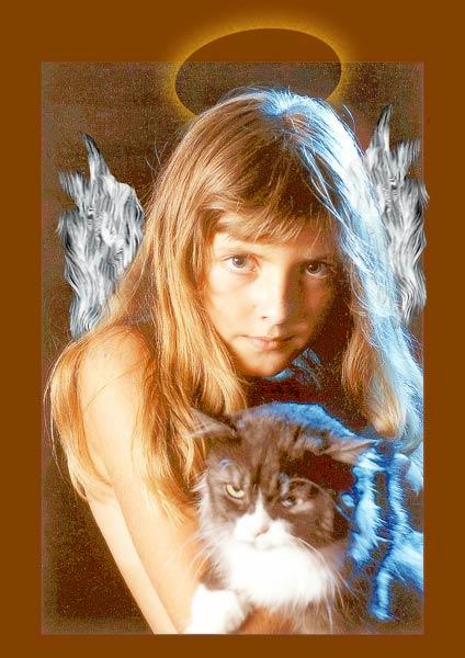 """фото """"Virgin with Cat"""" метки: жанр, портрет, женщина"""