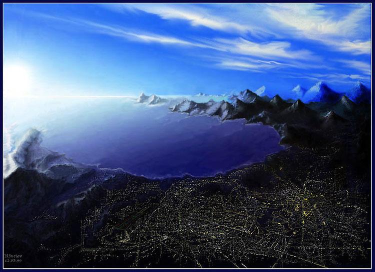 """photo """"La Ciudad..."""" tags: montage, landscape,"""