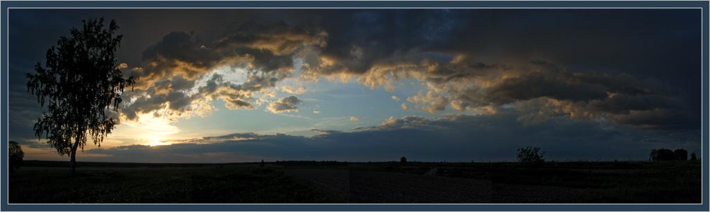 "photo ""Panorama"" tags: landscape, sunset"