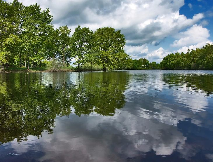 "photo ""Untitled photo"" tags: landscape, clouds, water"