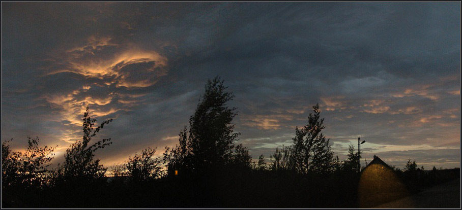 "photo ""The сasual thriller"" tags: landscape, clouds, sunset"