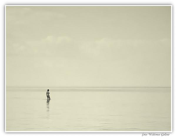 "photo ""The lonely swimmer."" tags: landscape, travel, Europe"