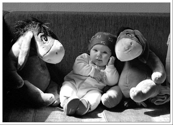 "photo ""Family portrait"" tags: portrait, black&white, children"