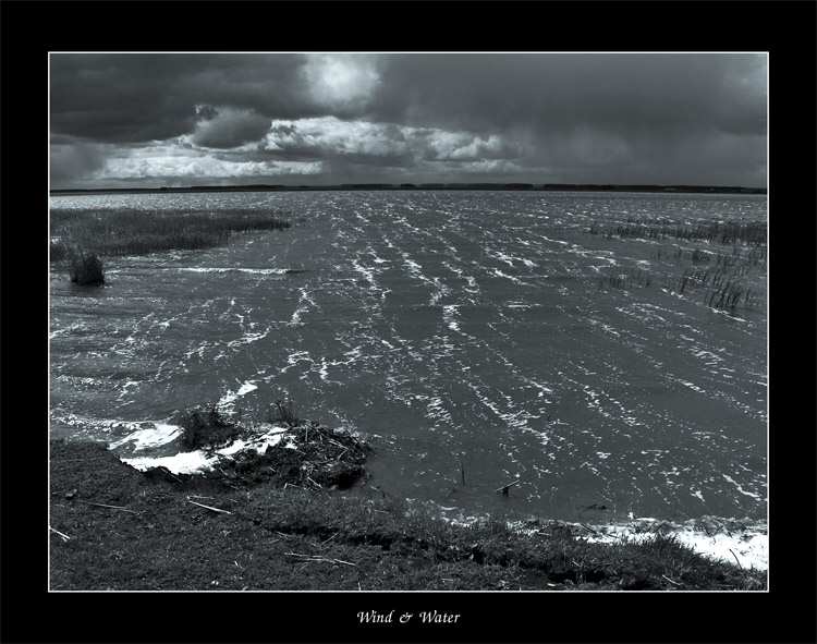 "photo ""Wind & Water"" tags: landscape, black&white, water"