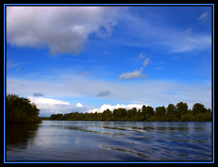 "photo ""Etude in blue tones"" tags: landscape, clouds, water"