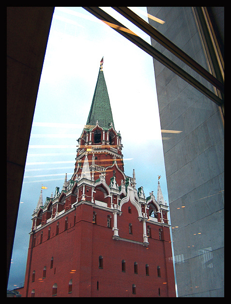 "photo ""The Kremlin tower"" tags: architecture, landscape,"